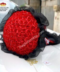 bó bông sáp màu đỏ