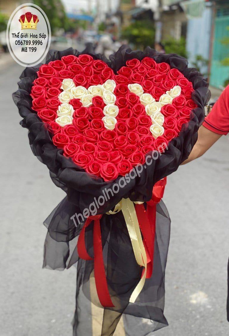 bó hoa sáp 99 bông cao cấp nhất