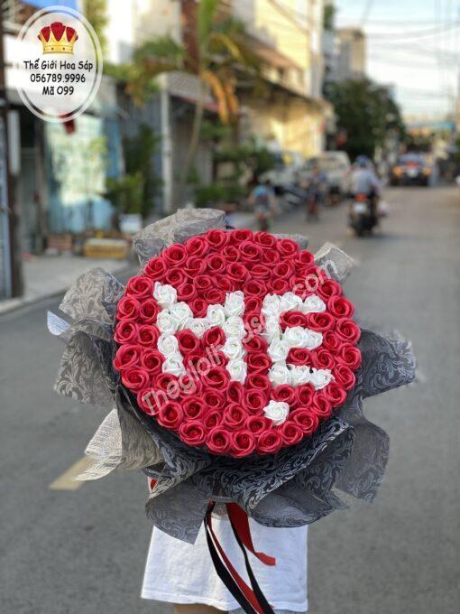 bó hoa sáp tặng mẹ