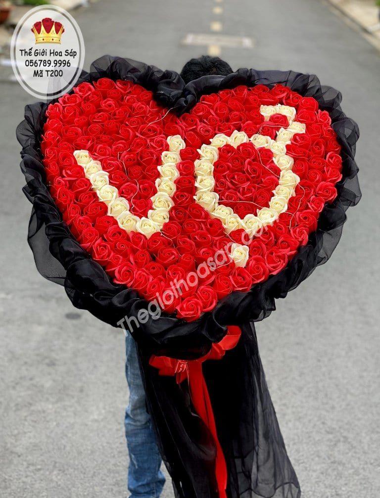 hoa sáp trái tim tặng vợ
