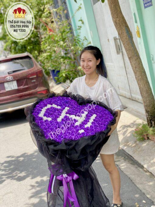 bó hoa sáp 200 bông- quà tặng chị