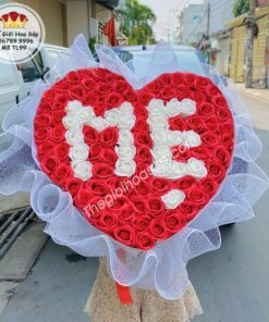 bó hoa hồng sáp tặng mẹ