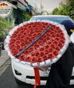 bó hoa kim tuyến đỏ