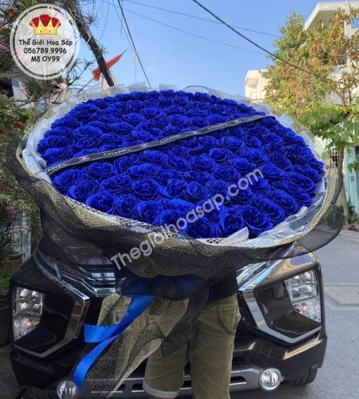 Bó Hoa Kim Tuyến 99 Bông màu xanh