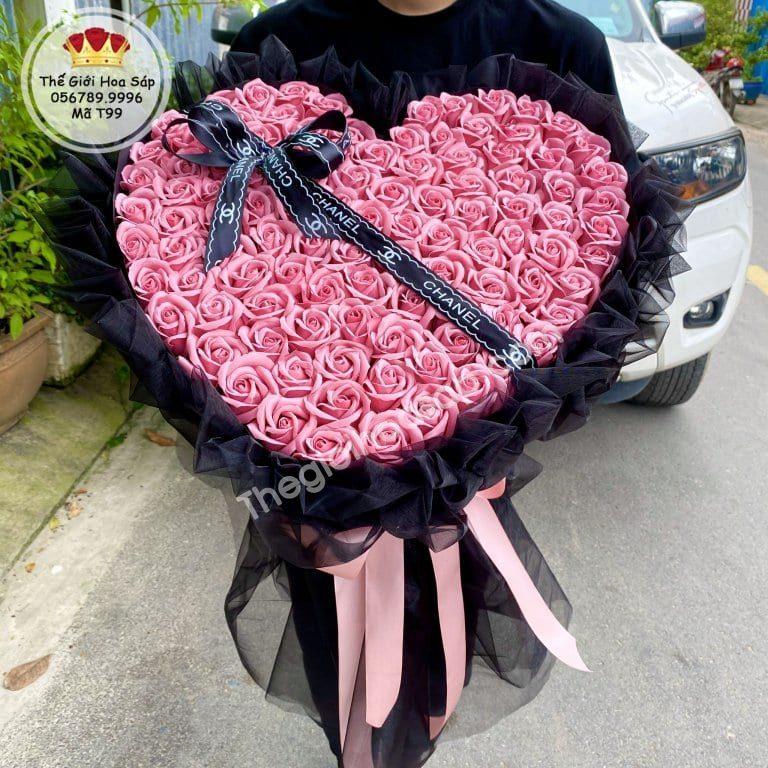 Bó hoa hồng sáp 99 bông cao cấp