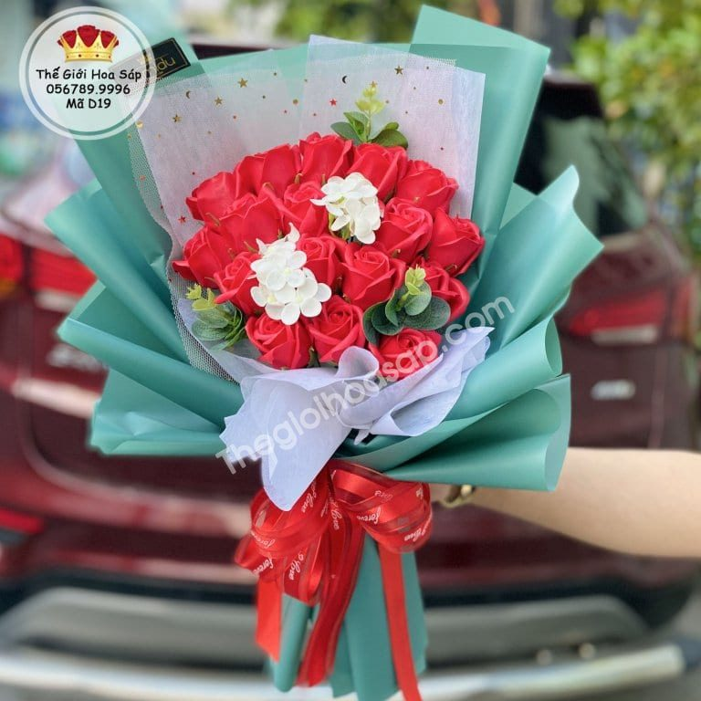 Bó hoa sáp 19 bông