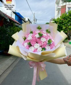 bó hoa sáp 50 bông