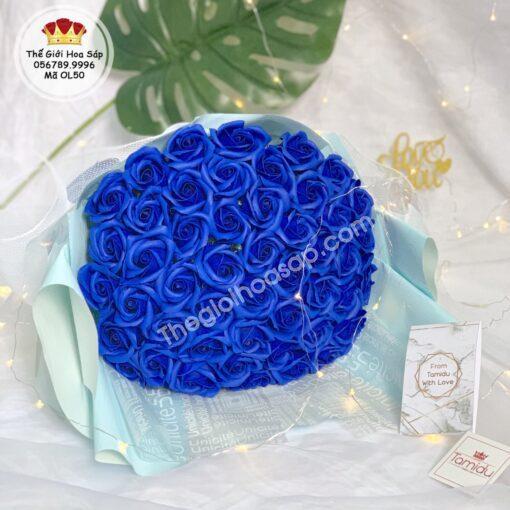 hoa sáp thơm màu xanh