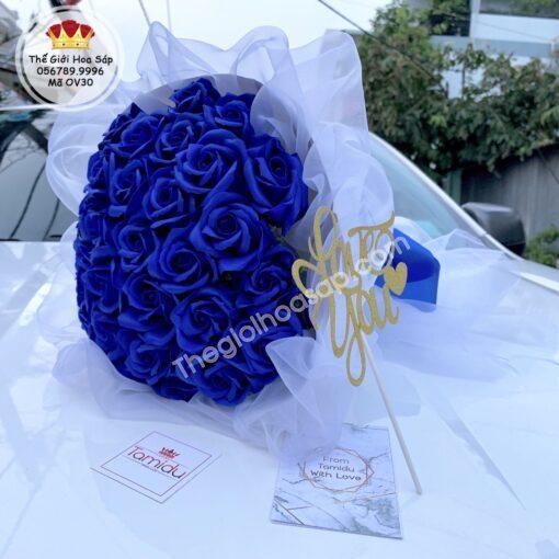 hoa sáp xanh coban đẹp lung linh