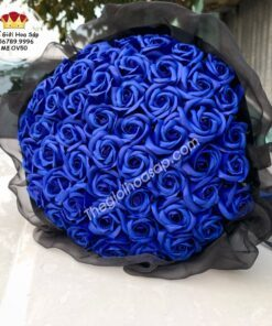 hoa sáp màu xanh