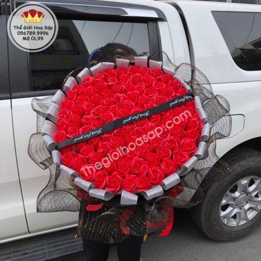 Bó hoa sáp thơm gói lưới