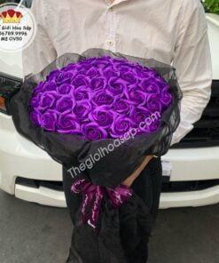 hoa sáp thơm màu tím đẹp