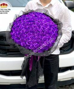 bó hoa sáp 99 bông tím