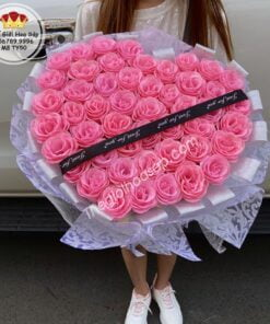 hoa hồng sáp kim tuyến 50 bông