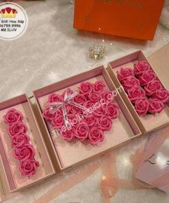 hộp hoa sáp i love you