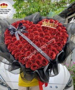 Hoa Kim Tuyến Trái Tim 99 Bông