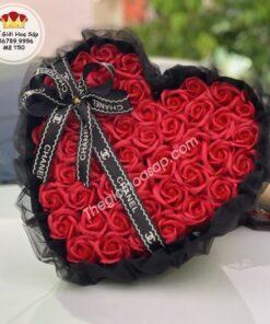 bó hoa sáp trái tim 50 bông