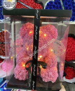 Gấu hoa hồng 45cm siêu đẹp