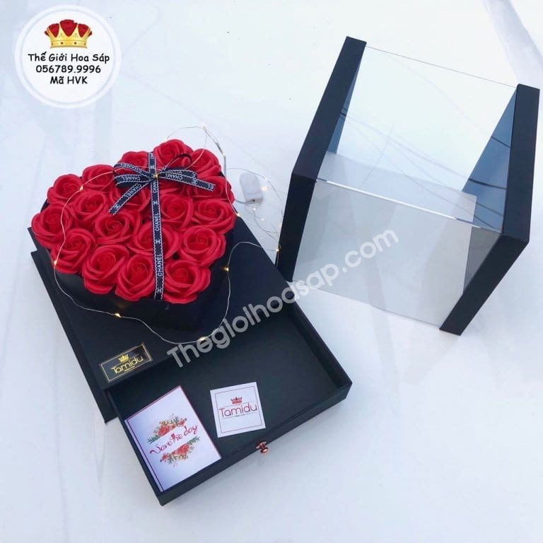 hộp hoa sáp cao cấp
