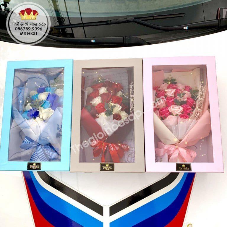 bộ sưu tập hộp hoa sáp