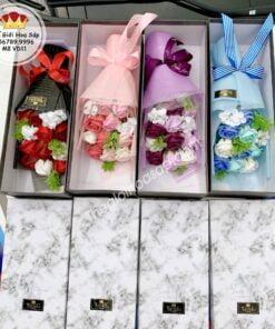 hộp hoa sáp tinh tế nổi bật