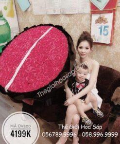 Bó Hoa Hồng Sáp Thơm 500 Bông Cao Cấp
